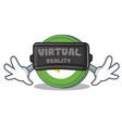 with virtual reality neo coin character cartoon vector image