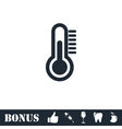 Thermometer icon flat vector image