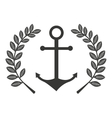 anchor marine symbol icon vector image