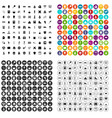100 school years icons set variant vector image vector image