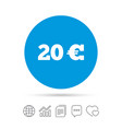 20 euro sign icon eur currency symbol