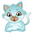 A cute kitten vector image vector image