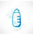 Baby bottle grunge icon vector image