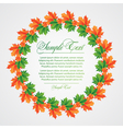 background from leaves vector image