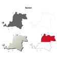 Banten blank outline map set vector image vector image