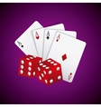 casino games elements isolated icon vector image