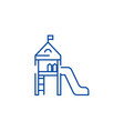 children playgroundsmall house line icon concept vector image vector image