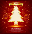 christmas background retro christmas tree vector image