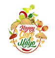 cinco de mayo food drink mexican holiday party vector image vector image