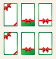 collection of red gift bows with ribbons vector image