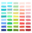 color banners drawn with japan markers stylish vector image