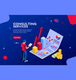 consult infographic isometric vector image vector image
