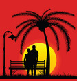 couple on sunset vector image vector image