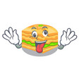 crazy baklava is isolated the with mascot vector image