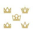 crown logo template icon vector image vector image