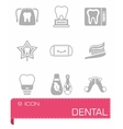 Dental icon set vector image vector image