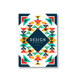 design ethnic style card temlate colorful ethno vector image vector image