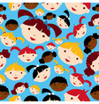 Diversity children faces pattern vector image vector image