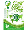 ecology and environment protection infographic vector image vector image