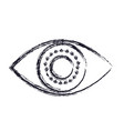 eye icon in blurred silhouette vector image vector image