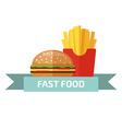 Fast food logo Junk food logo vector image vector image