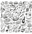 food doodles vector image