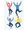 four happy children boys and girls jumping in vector image vector image
