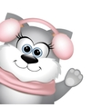 Funny cat on white background vector image vector image