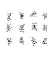Funny monkey collection for your design vector image vector image