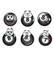 Funny smiling pool and billiard balls vector image vector image
