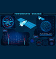 futuristic graphical interface satellite control vector image vector image