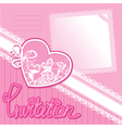 Heart and piece of paper on a pink background vector image vector image