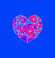 hearts from polygons vector image