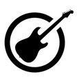 ink stamp guitar vector image vector image