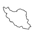 iran - solid black outline border map country vector image