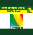 khyber pakhtunkhwa education department new logo vector image vector image
