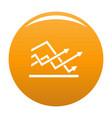line chart icon orange vector image vector image