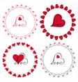 love heart circle frames clipart vector image vector image