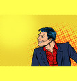 man in red shirt and suit vector image vector image