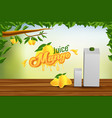 mango juice advertising banner ads background vector image