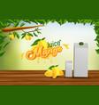 mango juice advertising banner ads background vector image