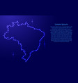 map brazil from luminous blue star space points vector image vector image