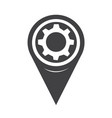 map pointer gear icon vector image