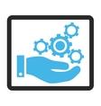 Mechanics Service Framed Icon vector image vector image