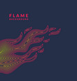 modern poster with flame from lines in vector image