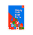 new year christmas greeting card poster geometric vector image vector image