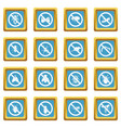 no insect sign icons azure vector image vector image