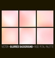 pink abstract blurred background set vector image vector image