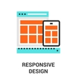 responsive design icon vector image