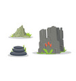 rocks and stones elements collection set vector image vector image